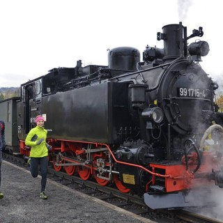 Bahnlauf, Steinbach, Preßnitztalbahn, Mensch, Maschine, naturspass.de