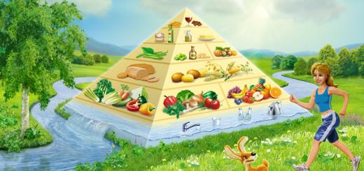 Vegane Ernährungspyramide, peta, naturspass.de