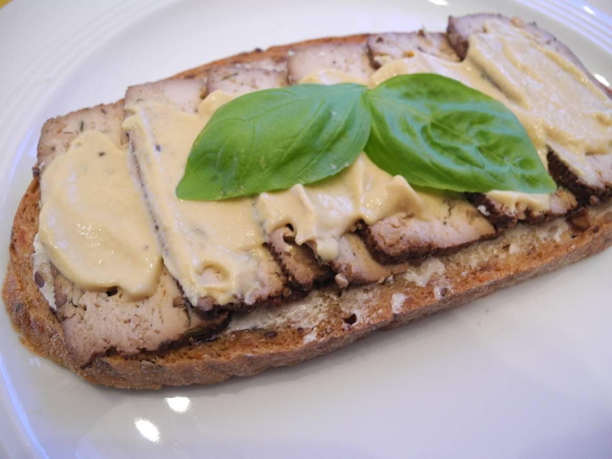 Tofu Brot mit Senf vegan - naturspass.de
